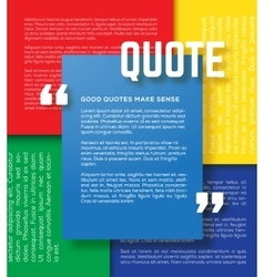 Rectangle motivation quote template vector