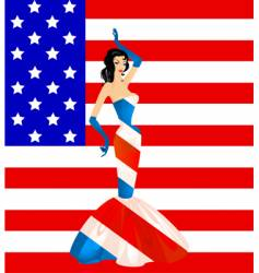 patriotic woman vector image