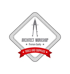 Architect label vector