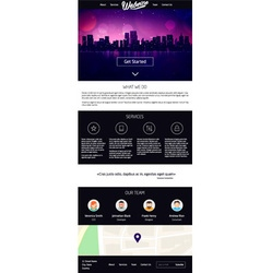 Landing page website design vector