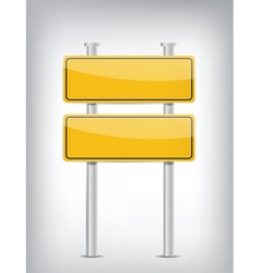 Road double sign vector