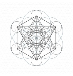 Metatron outline seed of life sacred geometry vector