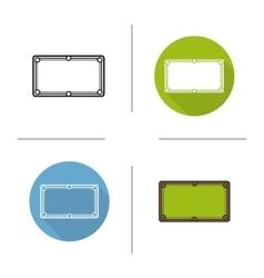Billiard table icons vector