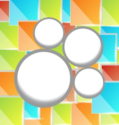 Abstract circle bubble colorful square background vector image vector image