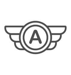 Avia company logo badge or game icon vector