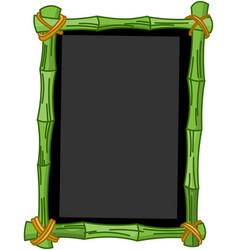bamboo chalkboard vector image vector image