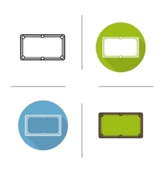Billiard table icons vector