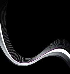 black wave vector image vector image