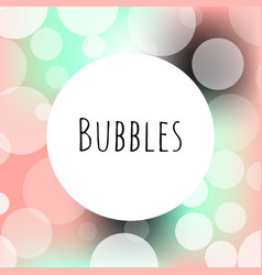 Bubbles bokeh elegance logo template vector