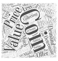 Bwcc what affects the value of a coin word cloud vector