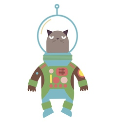 cat in a space suit vector image vector image