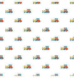 children ride train pattern seamless vector image