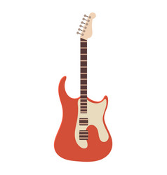 Classic rock guitar icon cartoon style vector