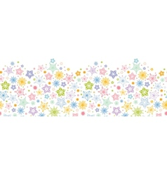 Colorful stars horizontal seamless pattern vector image vector image