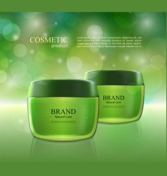 cosmetic ads poster moisturizing nourishing cream vector image vector image