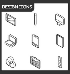 Design outline isometric icons vector
