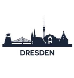 Dresden city skyline vector