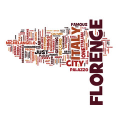 Florence italy text background word cloud concept vector