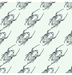 Hand drawn engraving Sketch of Scarab Beetle May vector image vector image