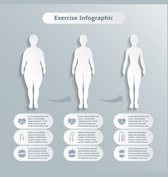 Infographic elements for women fitness vector