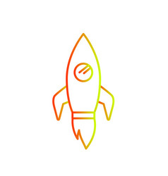isolated rocket design vector image