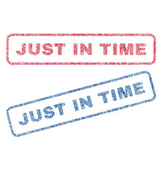 Just in time textile stamps vector