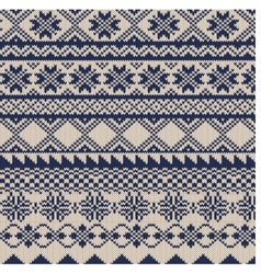 Knitted background in Fair Isle style vector image vector image