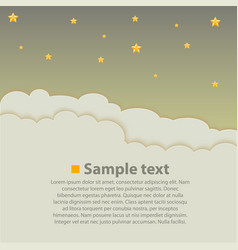 Night sky with clouds background vector