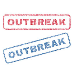 Outbreak textile stamps vector