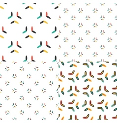 Oval seamless patterns set in modern clean and vector image