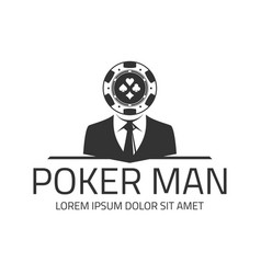 Poker logo template vector