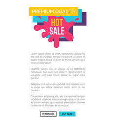 premium quality hot sale promo web banner label vector image vector image
