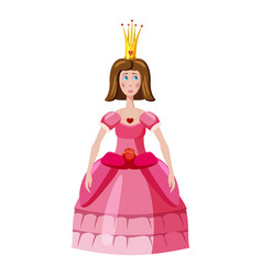 Princess icon cartoon style vector