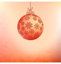 Red card with christmas balls EPS8 vector image