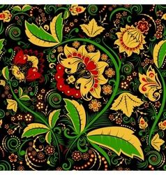 Seamless hohloma floral pattern vector image