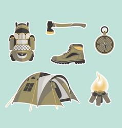 survival gear vector image