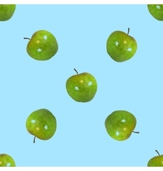 Seamless pattern a apples vector