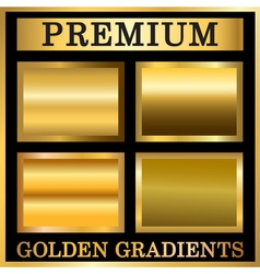 Gold texture in frame set vector