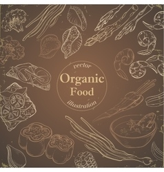 Healthy and hearty food organic restaurant vector