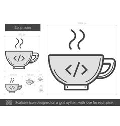 Script line icon vector