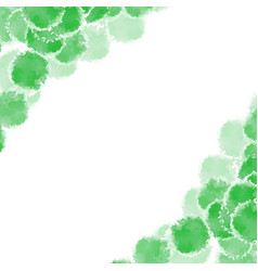 Abstract green hand drawn watercolor background vector