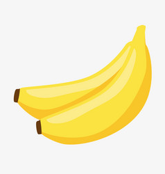 Banana fresh and healthy fruit vector