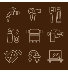 Set of icons bathroom vector