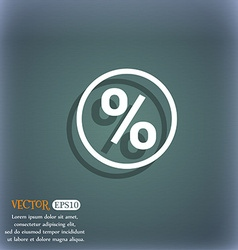 Percentage discount icon symbol on the blue-green vector