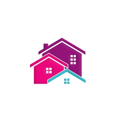 House building realty colorful logo vector