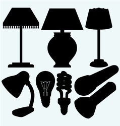 Set electrical lighting vector image