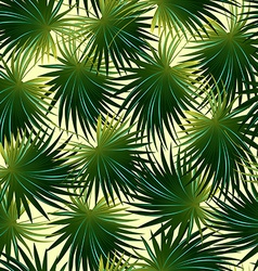 Tropical cabbage palm leaf in a seamless pattern vector