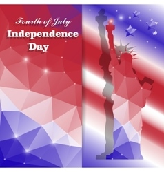 Independence day card vector