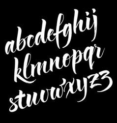 brush alphabet vector image