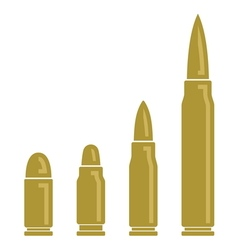 bullets vector image